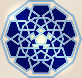 Celtic knot background. Vector blue ornament. Celtic knot style Stock Images