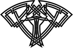 Celtic knot in black  Royalty Free Stock Photo