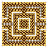 Celtic knot border. Set of elements and brushes for creation of the Celtic knot frame Royalty Free Stock Photography