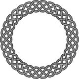 Celtic Knot Border. Black and White Celtic Knot Patterned background Royalty Free Stock Photos