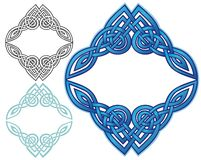 Celtic knot border. Decorative woven border in celtic style Royalty Free Stock Photography