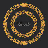 Celtic knot braided frame border circle ornament vector illustration