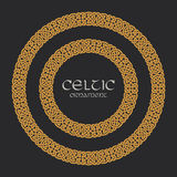 Celtic knot braided frame border circle ornament Stock Photography