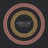 Celtic knot braided frame border circle ornament Stock Photos