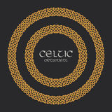 Celtic knot braided frame border circle ornament Royalty Free Stock Photography