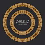 Celtic knot braided frame border circle ornament Stock Photos