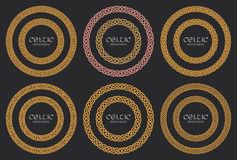 Free Celtic Knot Braided Frame Border Circle Ornaments Set Stock Photo - 96531560