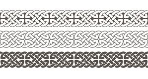 Celtic knot braided frame border ornament. Vector illustration royalty free illustration
