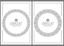 Celtic knot braided frame border ornament. A4 size. Vector illustrations set Royalty Free Stock Photography