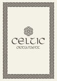 Celtic knot braided frame border ornament. A4 size. Stock Image