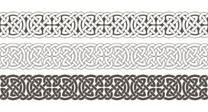 Celtic knot braided frame border ornament. Stock Photos