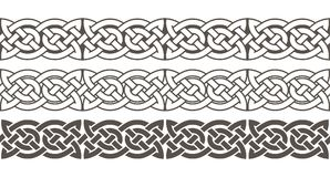 Celtic knot braided frame border ornament. Stock Photo