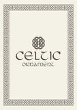 Celtic knot braided frame border ornament. Vector illustration. Royalty Free Stock Image