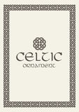 Celtic knot braided frame border ornament. Vector illustration. Royalty Free Stock Photography