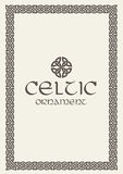 Celtic knot braided frame border ornament. Vector illustration. Stock Image
