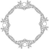 Celtic knot circle frame. Vector illustration of Celtic knot circle frame black and white Royalty Free Illustration