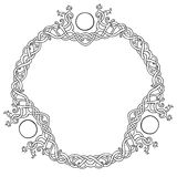 Celtic knot circle frame. Vector illustration of Celtic knot circle frame black and white stock illustration