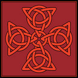 Celtic knot Cross. A Cross formed of celtic knots in shades of red and black Royalty Free Stock Photos