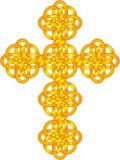 Celtic Knot Cross. Illustration of celtic knot cross in gold tones Stock Photo