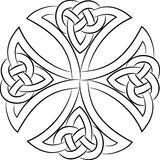 Celtic knot cross. On white, vector illustration Royalty Free Illustration