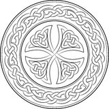 Celtic knot cross in wreath Stock Photos