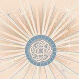 Celtic Knot Dandelion. Dandelion image with celtic knot emblem symbol icon Stock Images