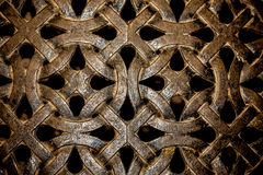 Celtic Knot Design. In metal work Stock Image