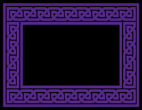 Celtic Knot Frame, Purple, vector version Stock Photo