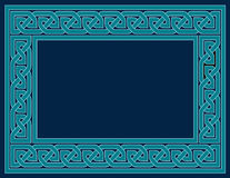 Celtic Knot Frame, Teal Blue Royalty Free Stock Photography