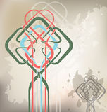 Celtic_knot_grunge vektor illustrationer
