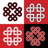 Celtic knot hearts red and blabk. Celtic knot made of hearts Stock Image