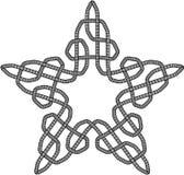 Celtic Knot Illustration. Black and White Celtic Knot Patterned background Stock Photos