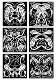 Celtic knot ornament with fantastic birds Stock Image