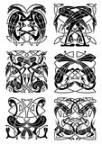 Celtic knot ornament with herons and storks Royalty Free Stock Images