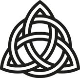 Celtic knot with outlines. Icon Royalty Free Stock Images