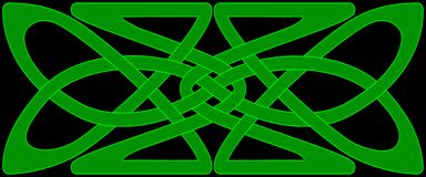 Celtic knot panel Stock Images