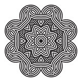 Celtic knot pattern card, mandala, amulet Stock Image