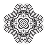 Celtic knot pattern card, mandala, amulet Stock Photos