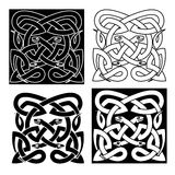 Celtic knot pattern of tribal snakes interlacement. Medieval celtic reptile knot pattern with mythical snakes, for tattoo or t-shirt design Royalty Free Stock Images