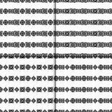 Celtic knot seamless pattern set. Celtic knot seamless black and white pattern set Royalty Free Stock Photo