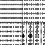 Celtic knot seamless pattern set. Celtic knot seamless black and white pattern set Royalty Free Stock Images