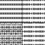 Celtic knot seamless pattern set. Celtic knot seamless black and white pattern set Stock Photo