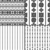 Celtic knot seamless pattern set. Celtic knot seamless black and white pattern set Stock Photos