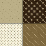 Celtic knot seamless pattern set. Celtic knot seamless brown pattern set. Abstract backgrounds Royalty Free Stock Photography