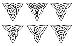 Celtic knot set Royalty Free Stock Image