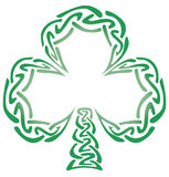 Celtic Knot Shamrock. Shamrock illustrated as an outline of celtic knots vector illustration