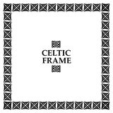 Celtic knot square frame. Celtic knot black and white frame. Ethnic abstract border Royalty Free Stock Image