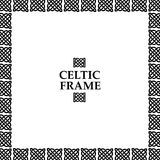 Celtic knot square frame Royalty Free Stock Photography