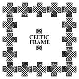 Celtic knot square frame. Celtic knot black and white frame. Ethnic abstract border Royalty Free Stock Photos
