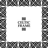 Celtic knot square frame Royalty Free Stock Images